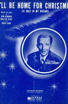 I'll Be Home For Christmas If Only In My Dreams Sheet Music 1943 Bing Crosby
