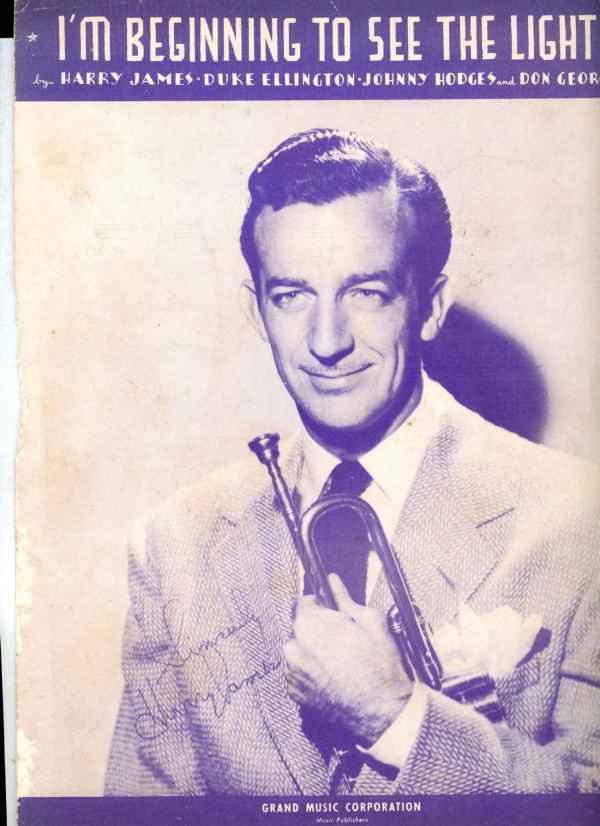 I'm Beginning To See The Light Sheet Music Vintage 1944 Harry James Duke Ellington
