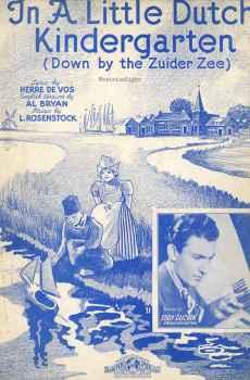 In A Little Dutch Kindergarten Down By the Zuider Zee Vintage Sheet Music 1937 Eddy Duchin