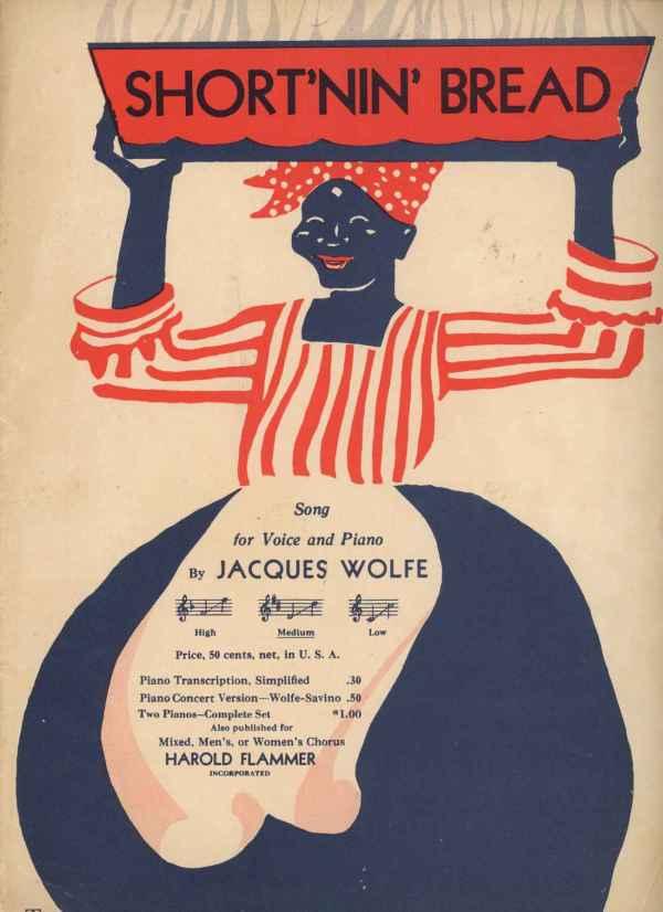 Short'nin Shortnin Bread Vintage Sheet Music 1928 Black Americana Cover