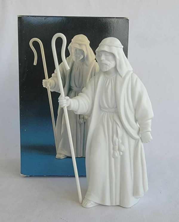 Avon Vintage Christmas Nativity The Shepherd White Porcelain Bisque Figurine 1983