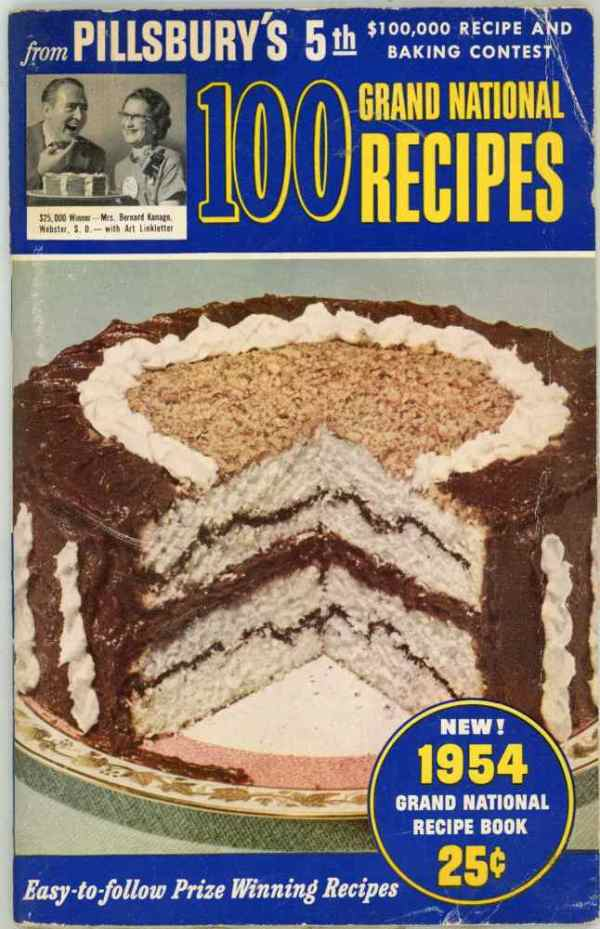 Pillsbury 5th Bake Off 100 Grand National Recipes $100,000 Recipe and Baking Contest Cookbook 1954