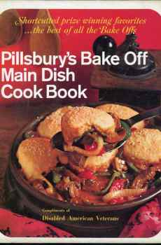 Pillsbury's Bake Off Main Dish Cook Book Hardcover 1st Edition 1968