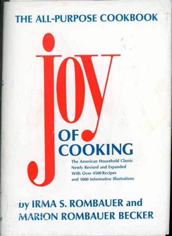 The Joy of Cooking The All Purpose Cookbook by Irma Rombauer Vintage Hardcover 1975 1988