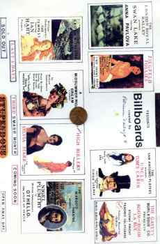 Billboards Broadway Vaudeville Shows Ballet Page Mini Prints The Picture Show Scaled Miniatures Dollhouse Miniature 1:12 Scale