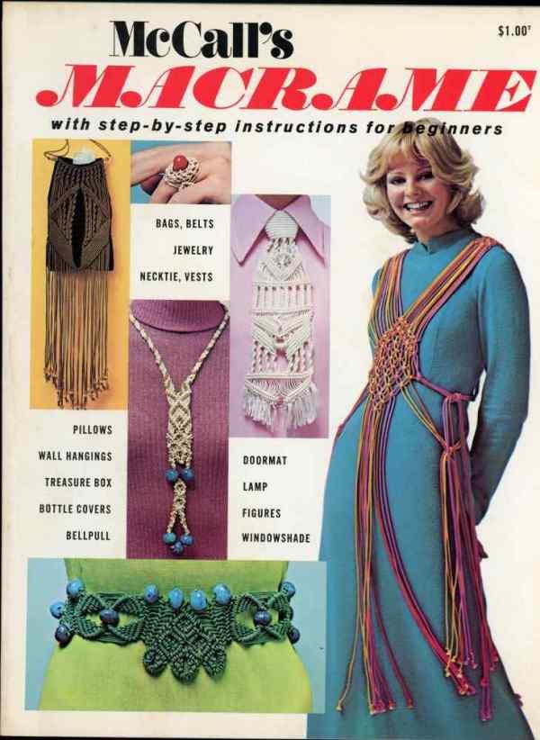 McCall's Macrame Patterns How To Make 1972 Retro Mid Century Original Designs 40 Designs