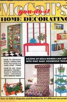 McCall's You Do It Home Decorating Spring 1972 Retro Mid Century Original Designs Upcycle Vintage Decor
