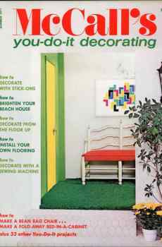 McCall's You Do It Home Decorating Summer 1971 Retro Mid Century Original Designs Upcycle Vintage Decor