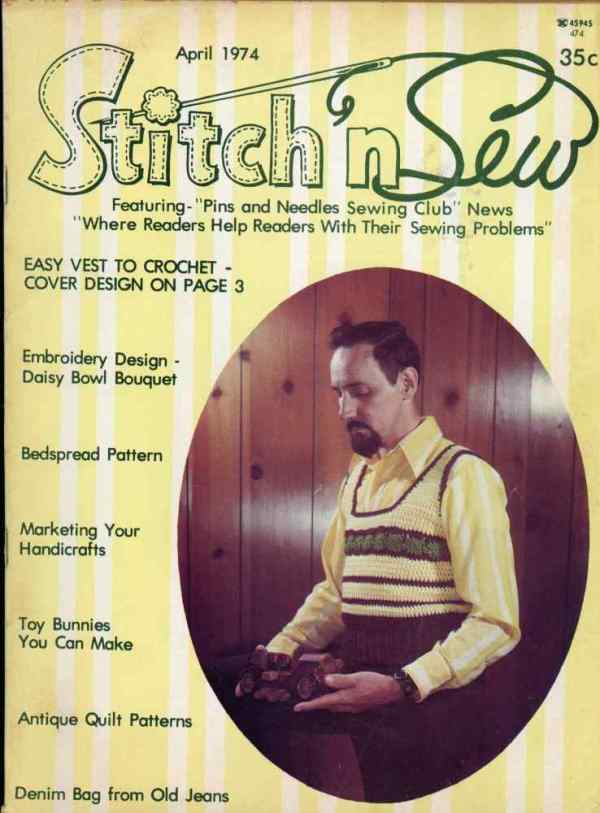 Stitch 'n Sew April 1974 Sewing Vintage Retro Projects