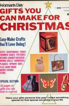Woman's Day Gifts You Can Make For Christmas Number 1 1972 Vintage Mid Century Crafts Projects