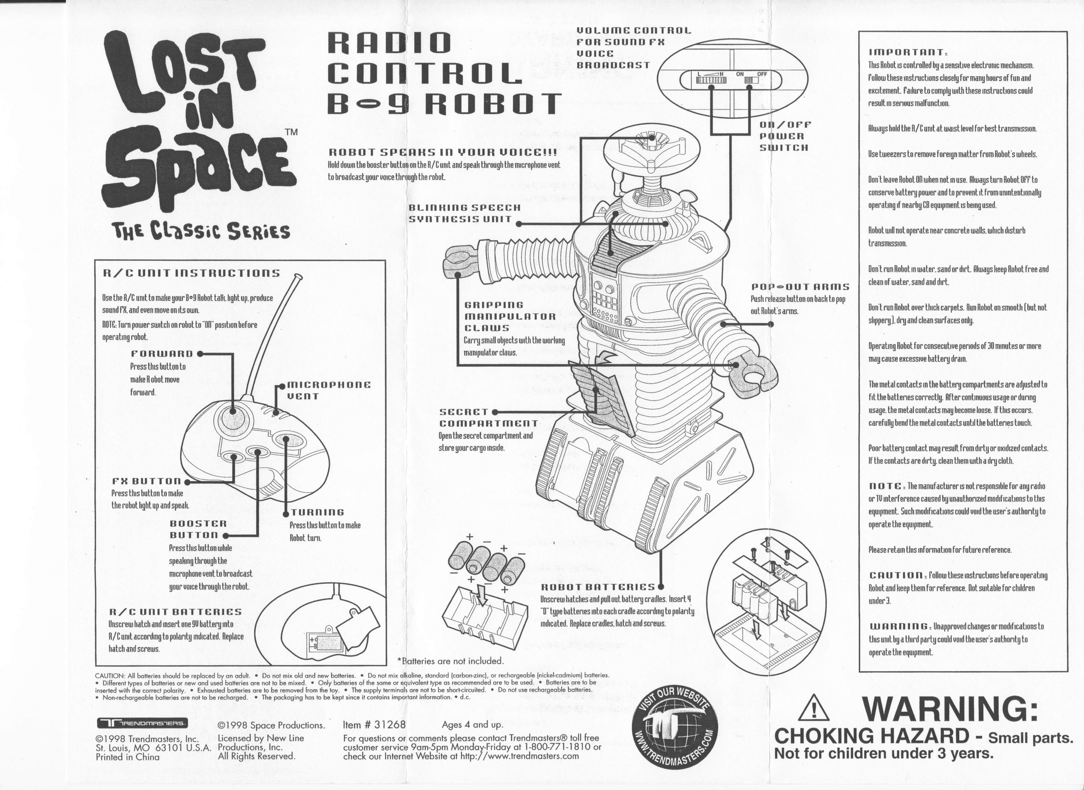 B9 Lost In Space Robot