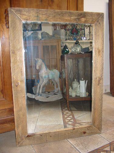 Grote Spiegel Hout.Diverse Spiegels Van Oud Hout Gemaakt