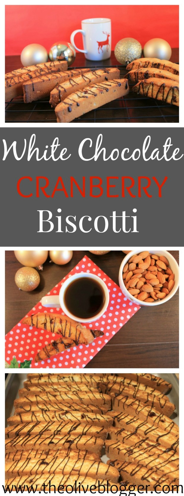 This White Chocolate Cranberry Biscotti cookie recipe is full of so much goodness! It is perfect with a cup of coffee, or as a late night snack...the flavors combine everything we love about the Holidays, and hope you enjoy too!