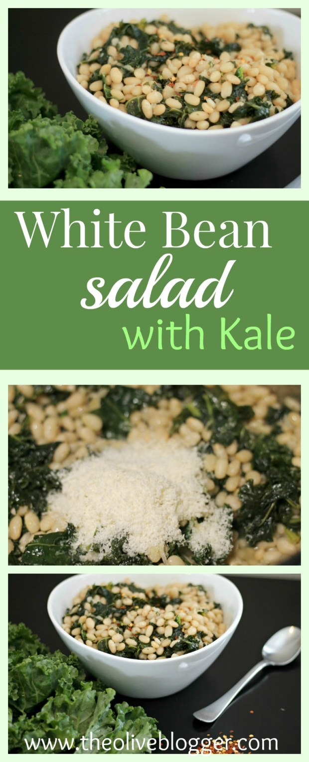 White Bean Kale Salad: A salad recipe made with simple ingredients that is healthy and delicious.