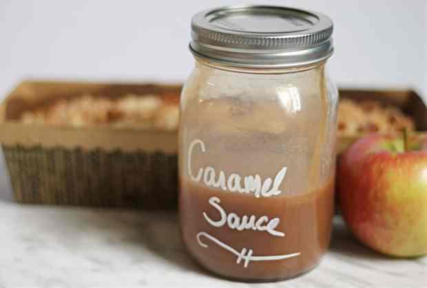 Homemade Caramel Sauce with Cream
