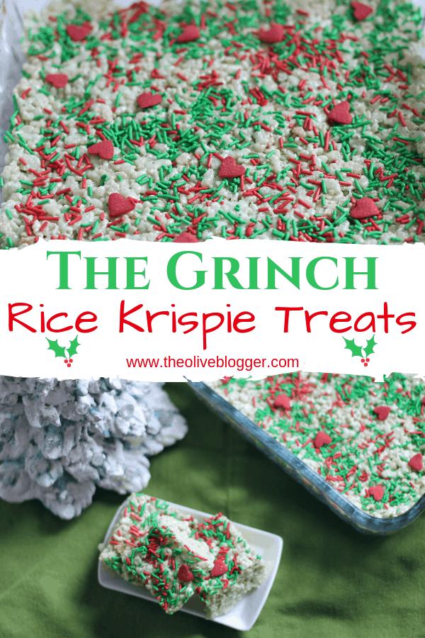 Christmas Rice Krispie Treats - Grinch Inspired