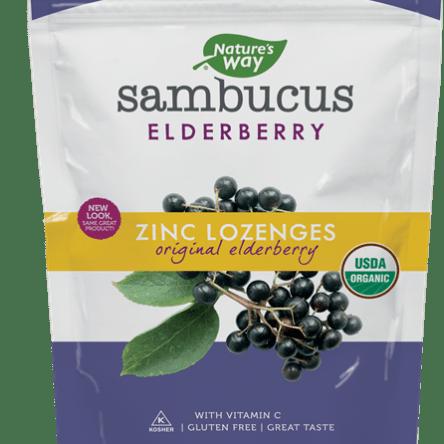 Nature's Way Sambucus Elderberry Zinc Lozenges 24 Count Assorted Flavors