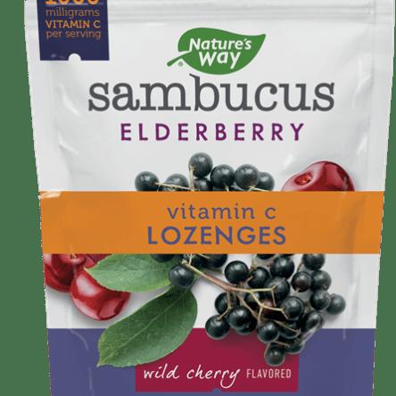 Nature's Way Sambucus Elderberry Vitamin C Lozenges Assorted Flavors 24 Count