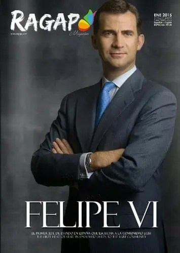 King Felipe VI becomes first Spanish monarch on a gay magazine cover