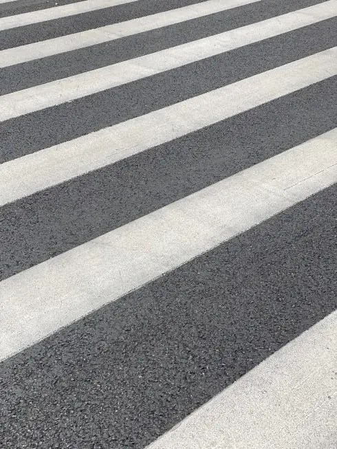 Bar in Spain's Valencia has a zebra crossing painted over it's outdoor terrace space, overnight