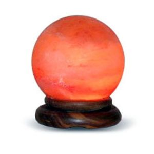 "Sphere Shape Globe Salt Lamp - Small - Mars 5"" to 6"" Diameter"