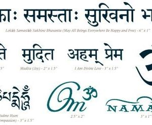 Sanskrit OM Tattoo Pack