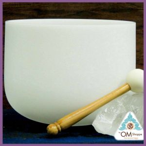 CHAKRA THIRD EYE NOTE A 9 INCH CRYSTAL SINGING BOWL WITH O RING AND STRIKER FREE SHIPPING THE OM SHOPPE