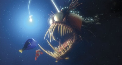 Resultado de imagem para fish in nemo that has a light bulb