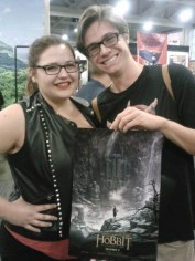Happy fans get a free Hobbit poster