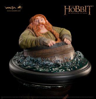 Bombur Barrel-rider statue from Weta Workshop