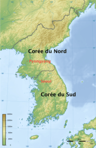 http://commons.wikimedia.org/wiki/File:Korea_topographic_map.png?uselang=fr - © Ksiom