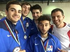 Médaille de bronze par équipe Plovdiv 2015 ©Jean-Philippe Patrice