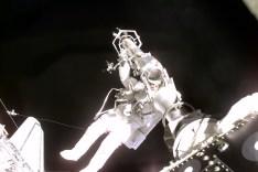 Astronaut Jeffrey Williams spacewalking on STS-10 ©