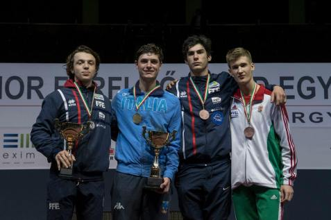Podium Coupe du monde junior Budapest 2017©Maxime Pianfetti