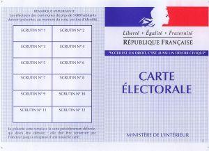 Carte electorale francaise recto