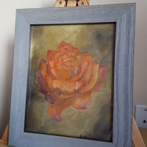 Orange Rose Speed Painting