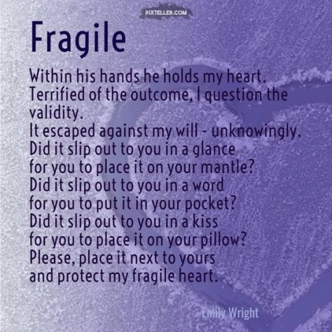 Fragile, an Emily Wright Poem