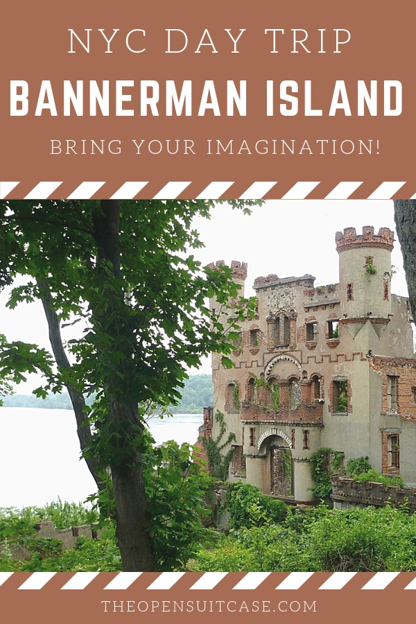 Looking for a NYC getaway? Travel to Beacon in the Hudson River Valley and take a boat tour of Bannerman Island, home to a crumbling storybook castle. #houses #roadtrip #history