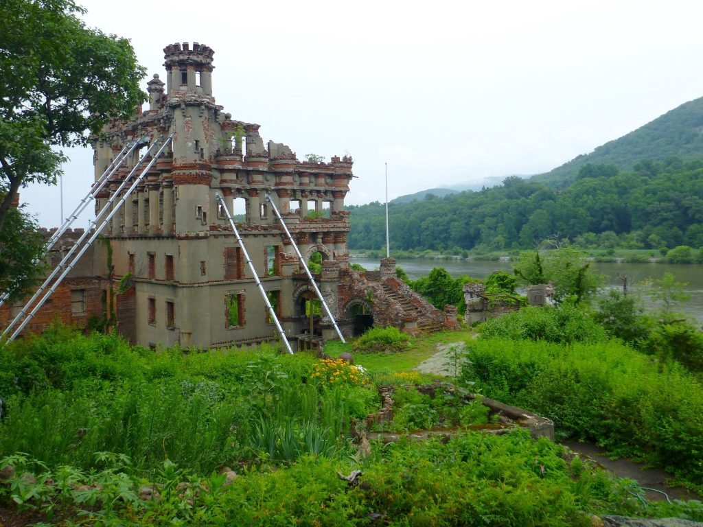 Facade of Bannerman Castle - tours depart from Beacon NY.