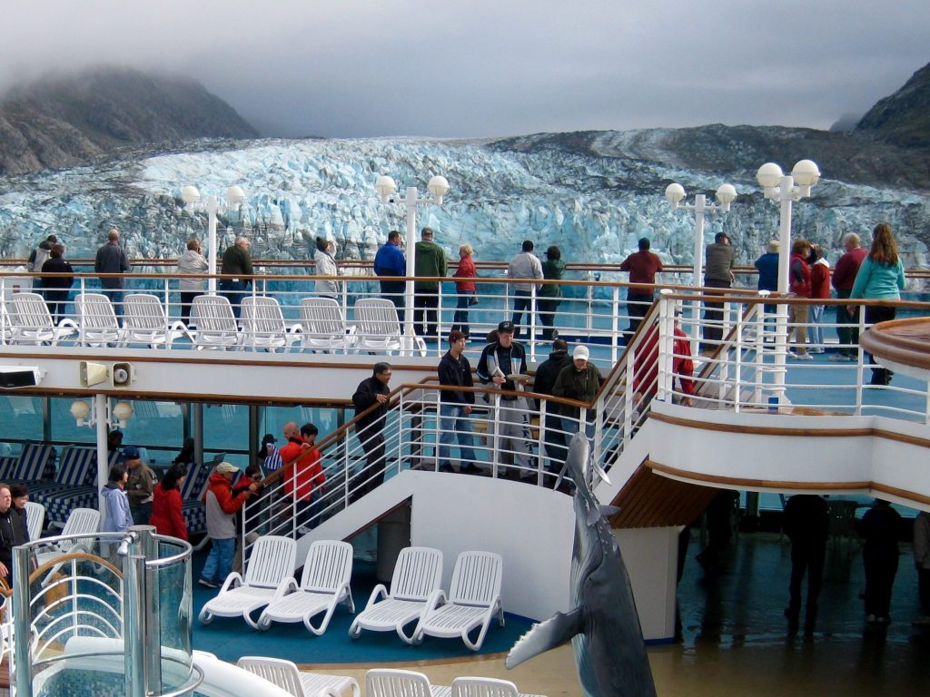 Alaskan glaciers seen from a cruise ship - Open Suitcase