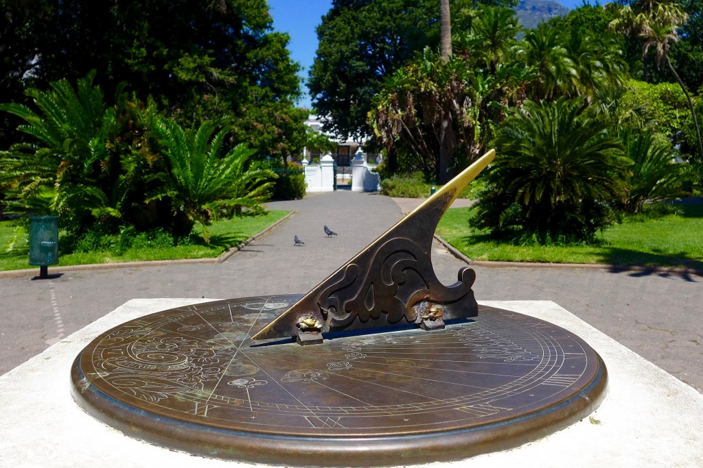 Sundial in Cape Town South Africa