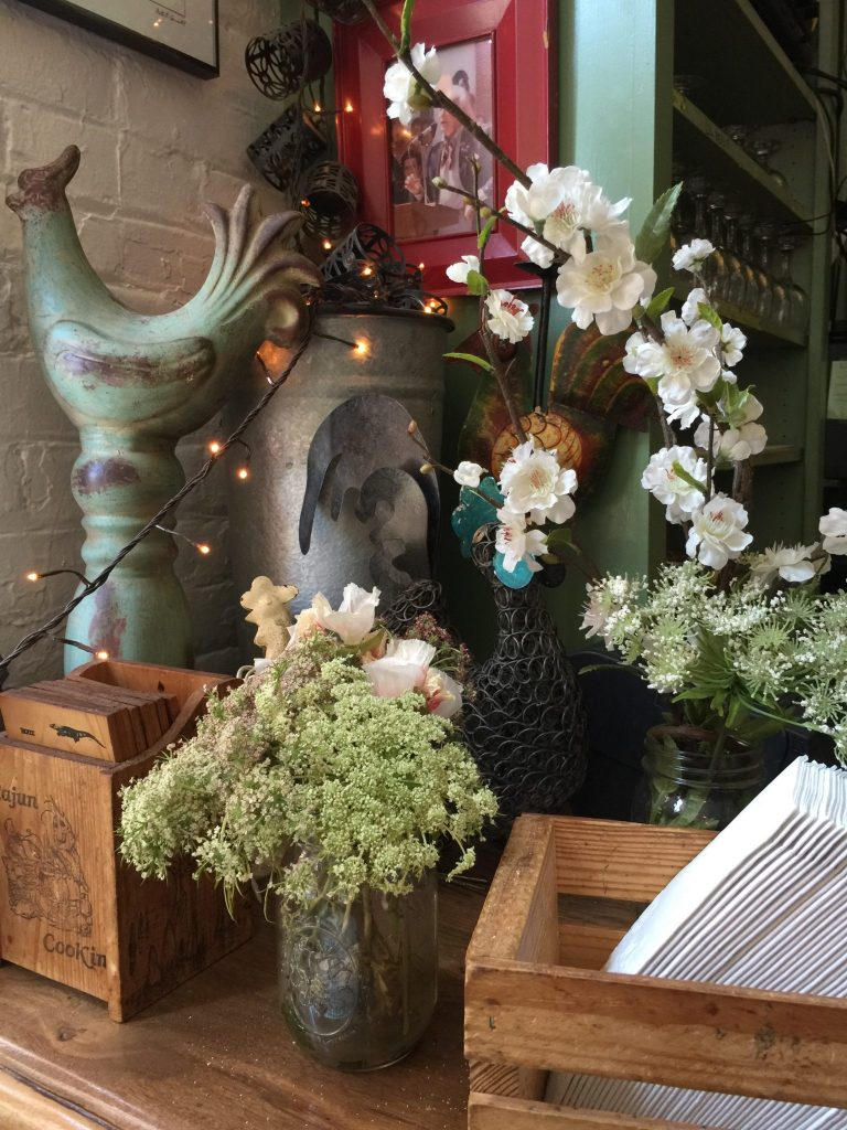 Decor at Hattie's Restaurant in Saratoga Springs one of the great things to do in town