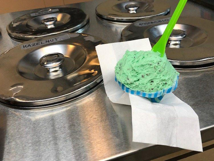 Scoop of gelato enjoyed on Arthur Avenue New York's Real Little Italy