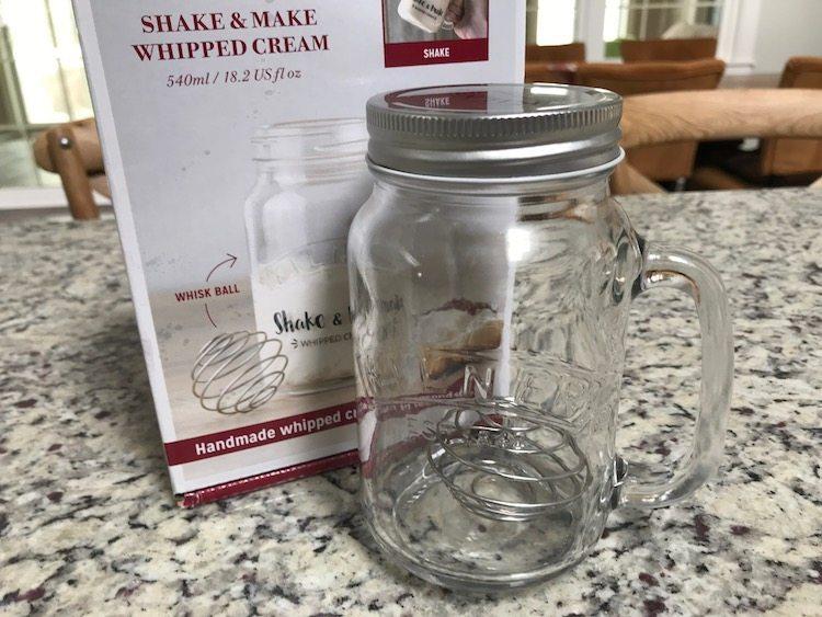Kilner Shake and Make homemade whipped cream maker