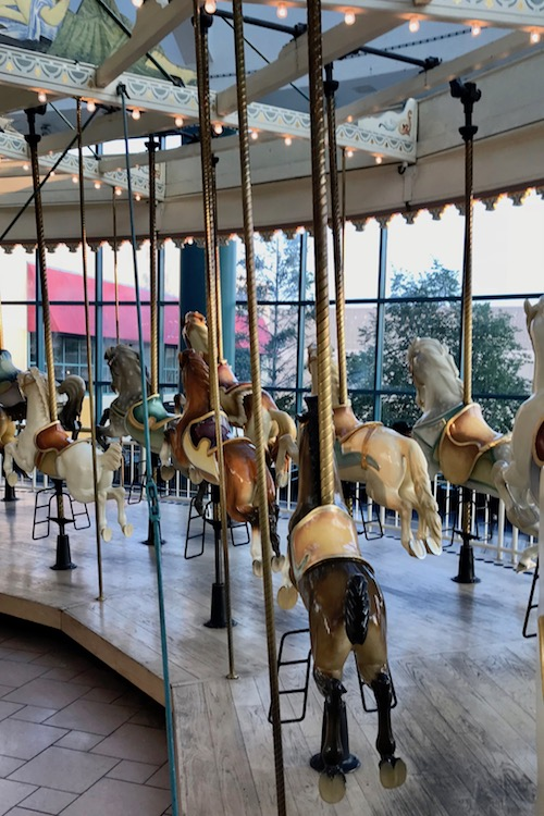Ride the carousel, one of the many fun things to do at Destiny USA in Syracuse
