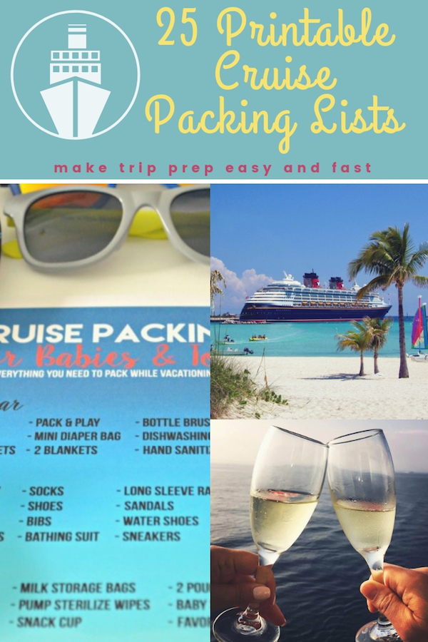 Download one of these printable cruise packing lists to help you get ready for your vacation. They're an essential tool to help you pack everything you need and to leave behind the things you don't! #printables #cruisepackingtips #packinglist