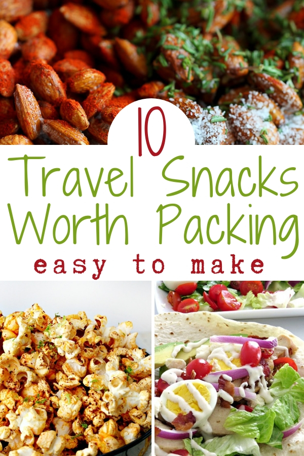 Make one or more of these easy to make travel snacks and you won't have to buy sad, old airport food ever again! #roadtrip #healthysnacks #easytomake