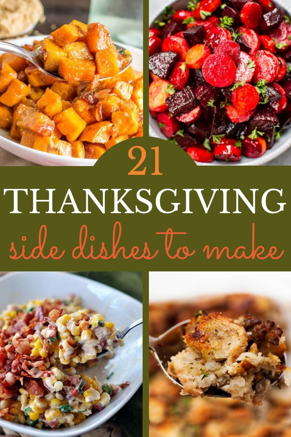Make this year's Thanksgiving feast the best yet! Make one or more of these delicious Thanksgiving side dishes to serve alongside your turkey. #thanksgiving #holidayrecipes #potluck