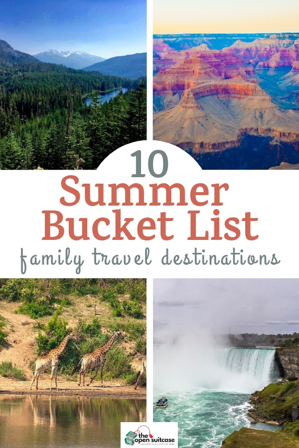 Take an epic summer vacation this year! Check out these bucket list destinations for your family trip - see the Eiffel Tower, go on safari or visit one of the beautiful US National Parks. Adventure awaits! #travelplanning #luxurytravel #traveldestinations