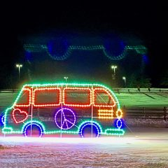 Groovy Drive Thru Holiday Lights at Bethel Woods